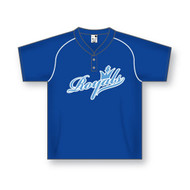 Athletic Knit TWO BUTTON Baseball Jersey