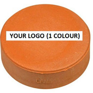 Hockey Puck with custom 1 colour imprint