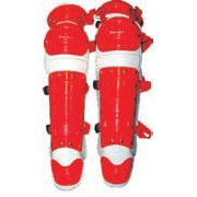 Economy Catchers Adults Leg Guards - RED