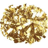 "Metalic Gold - 6"" Plastic Pom with baton handle"