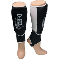 D-Gel Slip On Shin Guards with elastic band and ankle protection