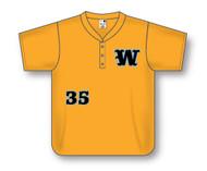 Athletic Knit THREE BUTTON Baseball Jersey