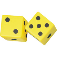"6"" Coated Yellow Foam Dice (set of 2)"