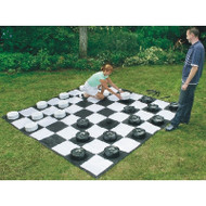 Giant Checkers Set With Mat