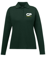 Performance Long Sleeve Pique Polo -  Female - Forest Green
