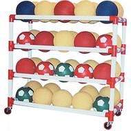 4 shelf ball wall storage system