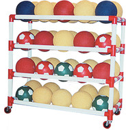 4 shelf ball wall storage system