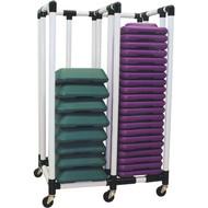 Compact health club step cart
