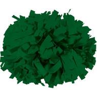 "Dark Green - 6"" Plastic Pom with baton handle"