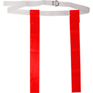 "Deluxe 48"" Adult Flag Football Belt with D-Rings - Red"