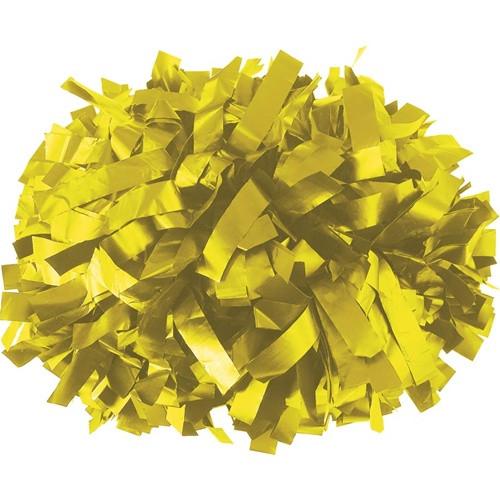 "Light Gold - 6"" Plastic Pom with baton handle"