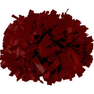 "Maroon - 6"" Plastic Pom with baton handle"