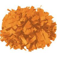 "Orange - 6"" Plastic Pom with baton handle"