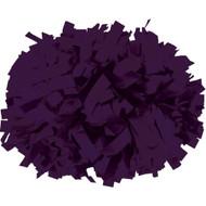 "Purple - 6"" Plastic Pom with baton handle"