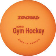 Orange gym hockey ball