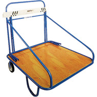 Roll away hurdle cart