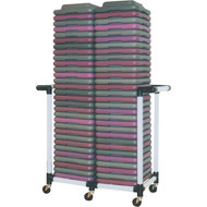 Health Club Step Riser Cart Holds 60