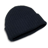 Cotton/Acrylic Rib Knit Toque With Cuff