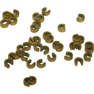 Brass Nocking Points with Soft Inner Protects