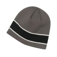 KNP Adult Acrylic Knit Beanie with Sandwich Stripe (KP-AC2600)