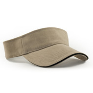 KNP Adult Brushed Cotton Twill Visor / Sandwich Peak (KP-CT4980)