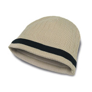 KNP Adult Acrylic Knit Toque with Contrast Color Stripe (KP-AC2630)