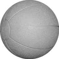 Rubber medicine ball 8 kg. Grey