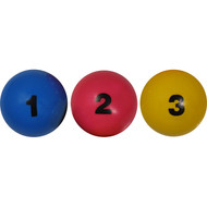 Set of 3 numbered juggling balls