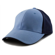 KNP Adult Brushed Cotton Twill Stretchable Two-Tone Fitted Cap (KP-CS6220)