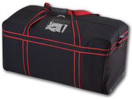 Kobe Reinforced Team Hockey Bag w/Internal Skate Pockets - 36 inchx17 inch - Black/Red