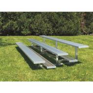 Standard Non-Elevated Aluminum Bleachers (3 row - 15 seats)