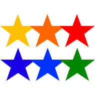 "9"" Poly Star Spots (set of 6)"