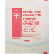 "Sterile Gauze Pads 3"" x 3"" Box of 100"