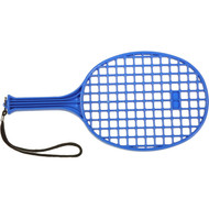 Moulded plastic paddle racquet
