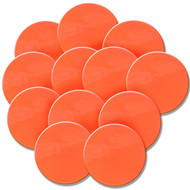 Orange Polyspot - set of 12