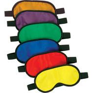 Rainbow coloured blindfold (set of 6)