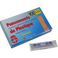 "Plastic bandages 3/4x 3"" box of 100"