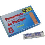 """Plastic bandages 3/4x 3"""" box of 100"""