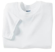 White Gildan 8000 Ultra Blend Adult T-Shirt (S-XL)