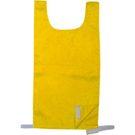 Elementary Nylon Pinnie with velcro on one side - Gold