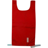 Elementary Nylon Pinnie with velcro on one side - Red
