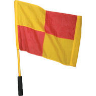 Linesman's yellow and red Checkered Flags
