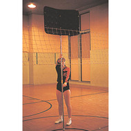 Height adjustable volleyball blocker