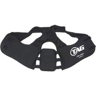 Adult Plated Rib Pad with shoulder harness and velcro fastener. Available in size L only