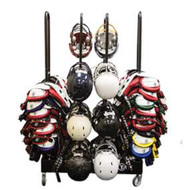 4-Stack Rolling Shoulder Pad/Helmet Rack