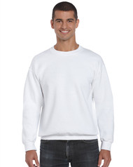 Gildan 12000 Ultra Blend Adult Crewneck Sweatshirt - White (S-3XL)