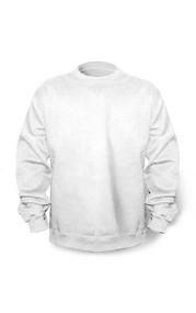 White Gildan 18000B Youth Heavyblend Crewneck Sweatshirt (Youth XS-XL)