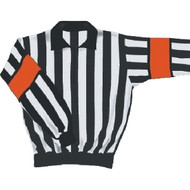 Quarter Zip Long Sleeve Referee Jersey - Orange Band