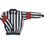 Quarter Zip Long Sleeve Referee Jersey - Red Band