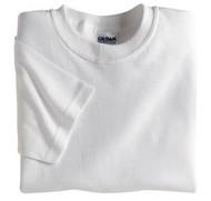 White Gildan 5000B Heavy Cotton Youth T-Shirt (XXS-XL)